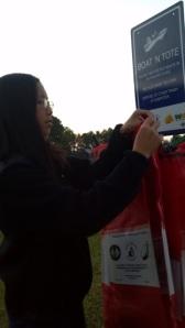 Dao Lu keeps bags stocked at Pelahatchie Shore Park.